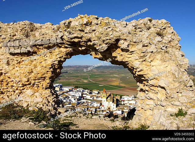 La Estrella Castle, village of Teba. Malaga province, southern Andalusia. Spain Europe