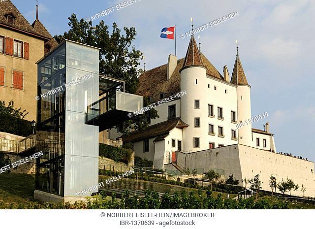 Chateau de Nyon palace, Lake Geneva, Canton Vaud, Switzerland, Europe