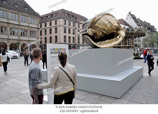 The origin of the World from the performer Marc Quinn at Strasbourg
