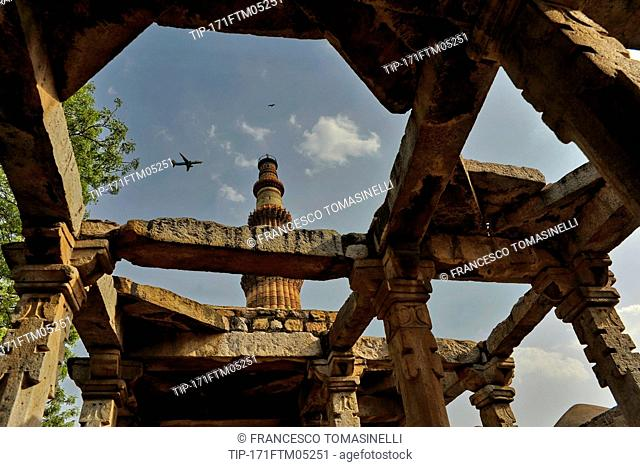 India, New Delhi, Qutub Minar,UNESCO world Heritage