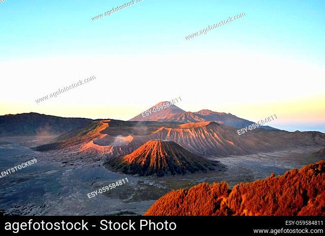 Sunrise view of the Bromo Tengger Semeru National Park, Indonesia