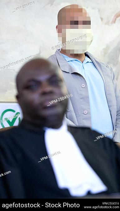 Lawyer Ilunga Kabinga Dieudonne pictured during the jury constitution of the assizes trial of 28 years old Moroccan Chadi Nouach for the murder of a 46 years...