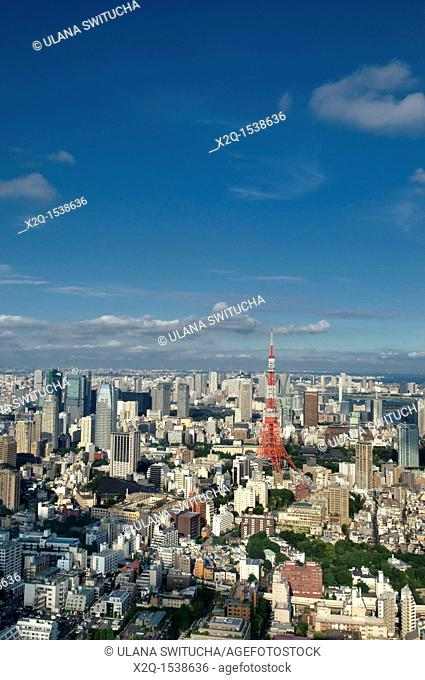 Tokyo skyline and Tokyo Tower Japan