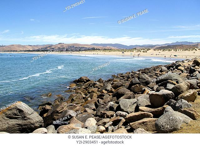 Morro Rock Beach, Morro Bay, San Luis Obispo County, California, United States, North America