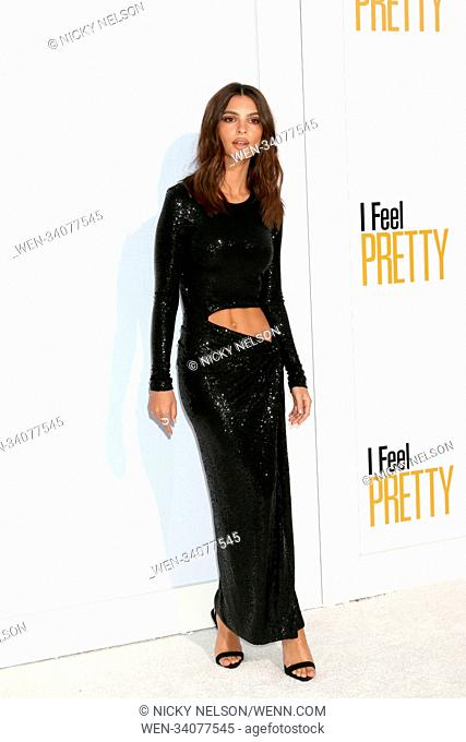 World Premiere of 'I Feel Pretty' at Westwood Village Theater - Arrivals Featuring: Emily Ratajkowski Where: Westwood, California
