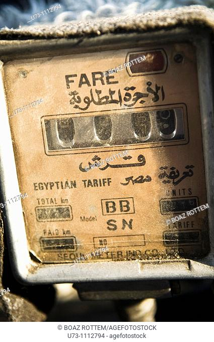 Old meters , made by the Seoul metering company, are commonly used in the old taxis running around Cairo, Egypt