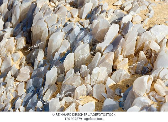 Crystal on Crystal Mountain, Libyan Desert, Egypt