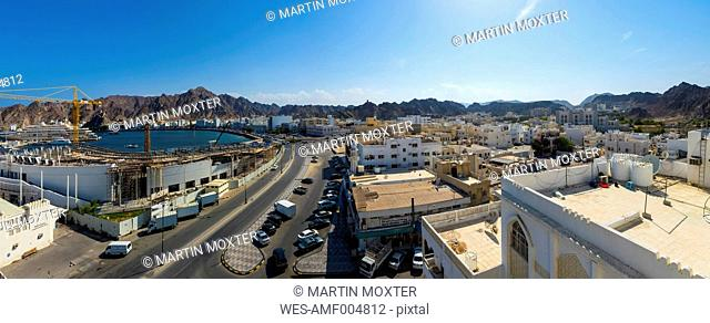 Oman, Muscat, View of Bahiri Road