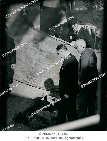 Aug. 08, 1966 - Three Policeman Shot Down In A London Street In London yesterday afternoon three London Policemen were shot dead in the street