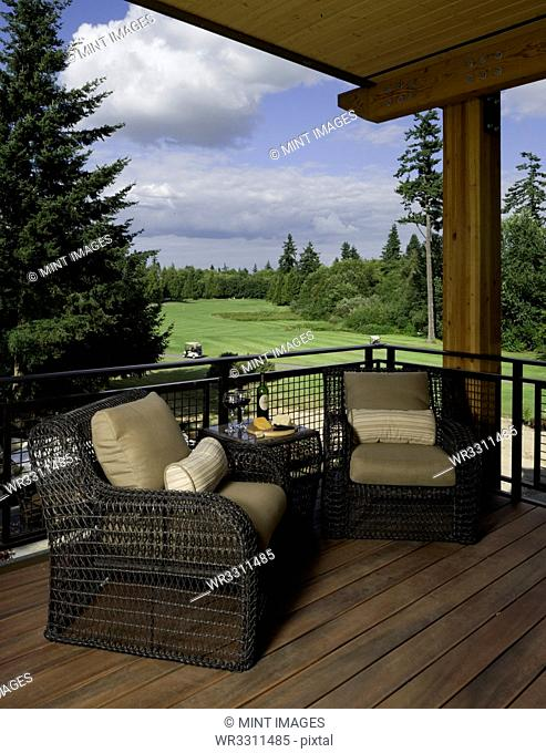 Covered Deck Overlooking Golf Course