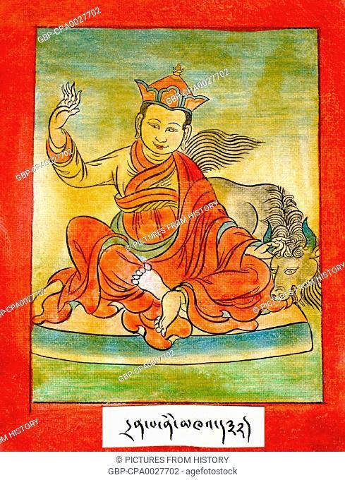 China / Tibet: Drenpa Namkha, Bon master who is said to have converted to Buddhism, c. 11th century CE