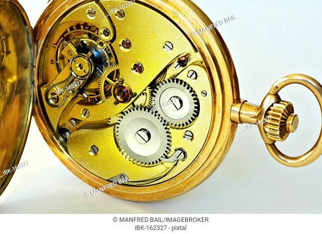 Golden pocket watch, about 1900
