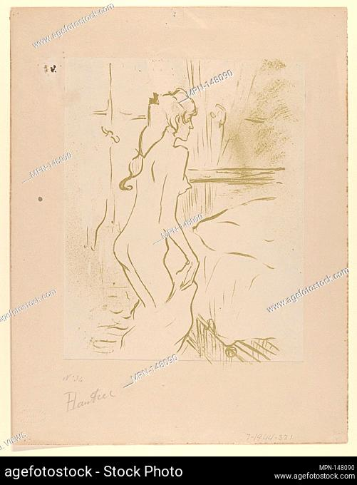 Study of a Woman. Artist: Henri de Toulouse-Lautrec (French, Albi 1864-1901 Saint-André-du-Bois); Publisher: Edouard Kleinmann (French
