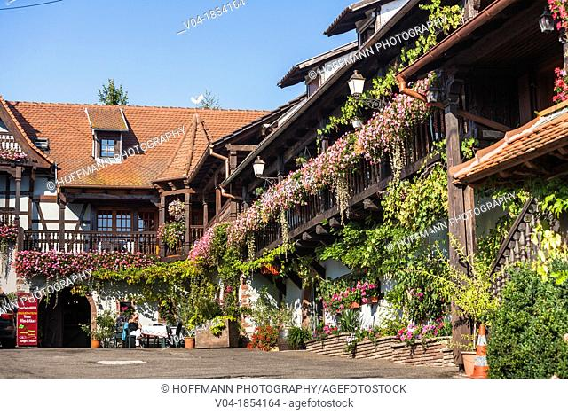 Charming traditional house in Itterswiller, Alsace, France, Europe