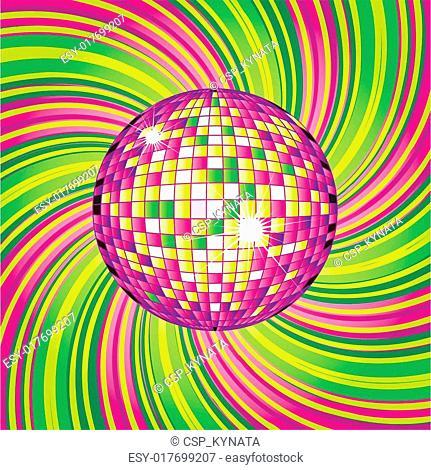 design with disco-ball