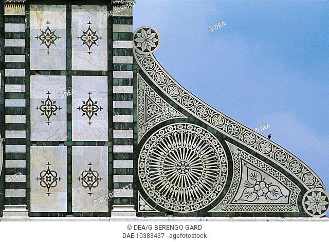 Tuscany - Florence, Old Town (a World Heritage Site by UNESCO, 1982). Basilica di Santa Maria Novella, architect Leon Battista Alberti, 1458-1478