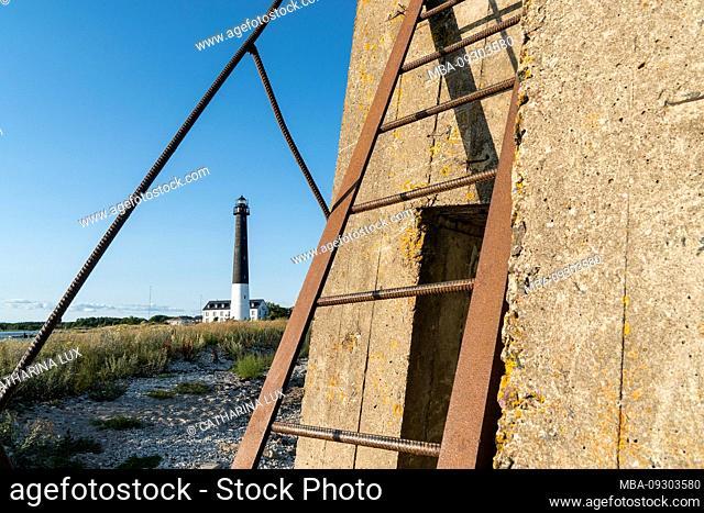 Estonia, Baltic Sea island Saaremaa, southern tip, Sääre, lighthouse, Sõrve Tuletorn