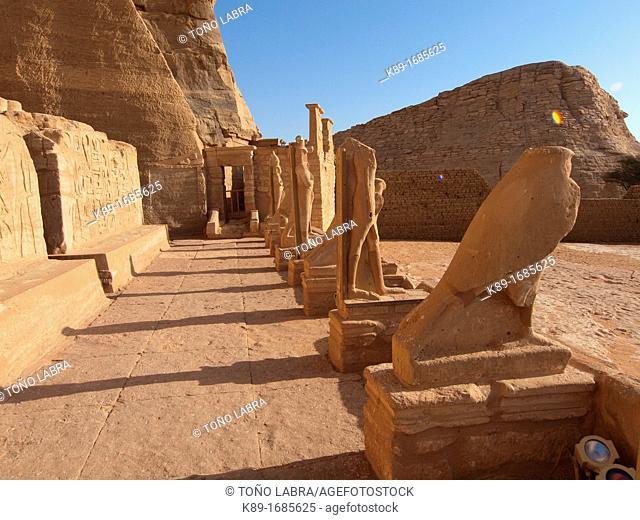 Abu Simbel temple of Ramses II  Nasser Lake  High Egypt