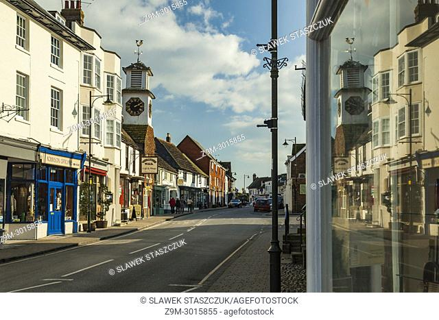Historic rural town of Steyning in West Sussex, England