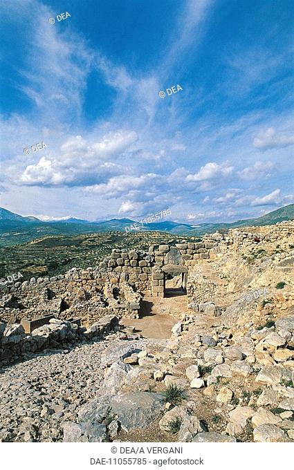 Greece - Peloponnesus - Mycenae. Ruins and Lion Gate