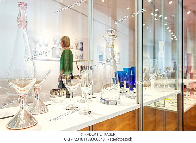 """The """"""""Two as One - Design of Czech and Slovak Glass"""""""" exhibition starts in the Museum of Glass and Jewellery in Jablonec nad Nisou, Czech Republic"""