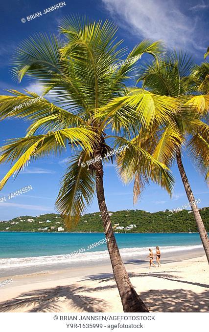 Two women at Megan's Bay beach, St  Thomas, US Virgin Islands