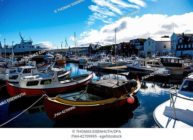The harbour in Torshavn, Faroe Islands, 10 September 2013. Around 50, 000 people live on the Faroe Islands, under the sovereignty of Denmark