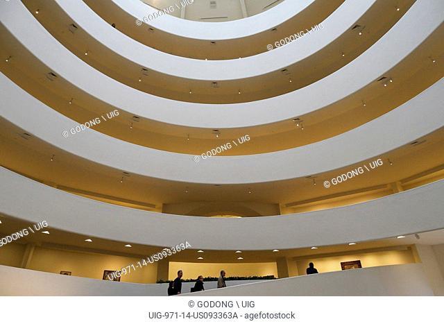 Interior of the Guggenheim Museum, Fith Avenue