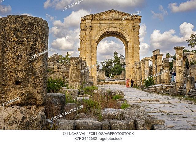 Triumphal arc, in Al-Bass archaeological site, Tyre (Sour), Lebanon