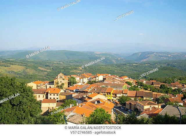 Overview and landscape. Villanueva del Conde, Sierra de Francia Nature Reserve, Salamanca province, Castilla Leon, Spain