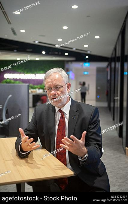 Singapore, Republic of Singapore, Asia - Portrait of Peter Meinshausen, Regional President Evonik Asia Pacific South of the German chemical company Evonik...