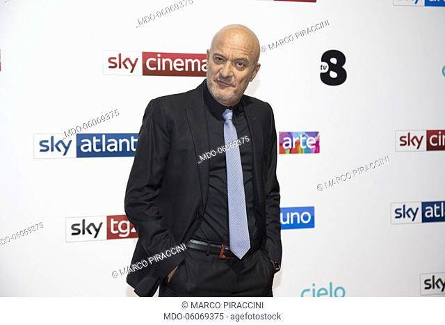 Claudio Bisio at the presentation of the next season Sky palimpsests, at the Palazzo del Ghiaccio in Milan. Milan, October 29th, 2019
