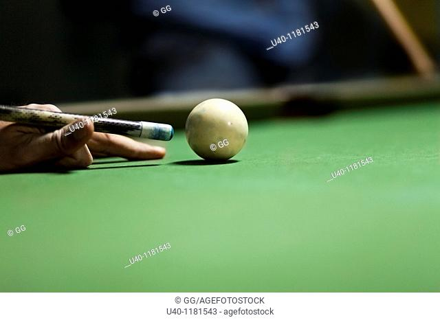 Setting up cue ball