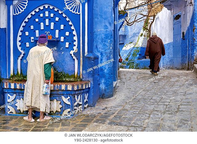 Chefchaouen (Chaouen). Is noted for its buildings in shades of blue. Morocco