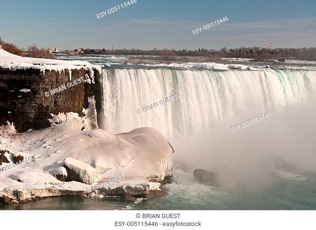Niagara Falls Horseshoe in Winter