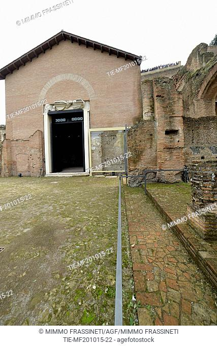 Public opening of the Ramp Imperial Domitian in the Roman Forum, monumental entrance to Imperial buildings. Discovered by Giacomo Boni in the1900 after the...