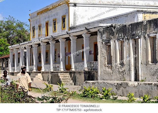 Africa, Mozambique, Quirimbas national Park, Ibo colonial town, Unesco world heritage, old alley and buildings