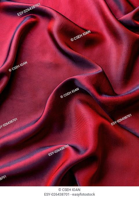 Elegant red silk or satin for background