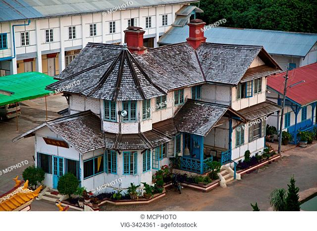 Old house on the grounds of the CHINESE TEMPLE in the town of PYIN U LWIN also known as MAYMYO - MYANMAR - 05/05/2012