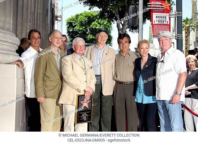 Tony Danza, Werner Herzog, Richard Roeper, Roger Ebert, Haskell Wexler, Joe Mantegna, Virginia Madsen, Scott Wilson at the induction ceremony for Star on the...