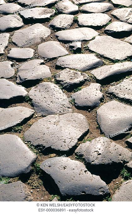 Section of old Roman road. Rome. Italy