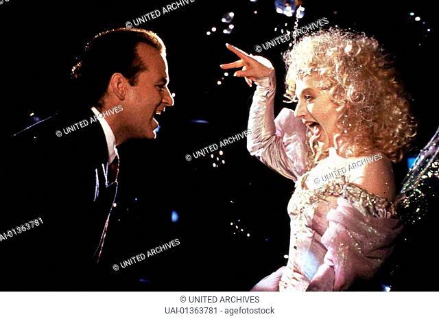 Die Geister, Die Ich Rief..., Scrooged, Die Geister, Die Ich Rief..., Scrooged, Bill Murray, Carol Kane Der Weihnachtsgeist der Gegenwart (Carol Kane) erscheint...