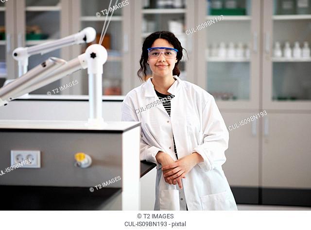 Portrait of student in laboratory