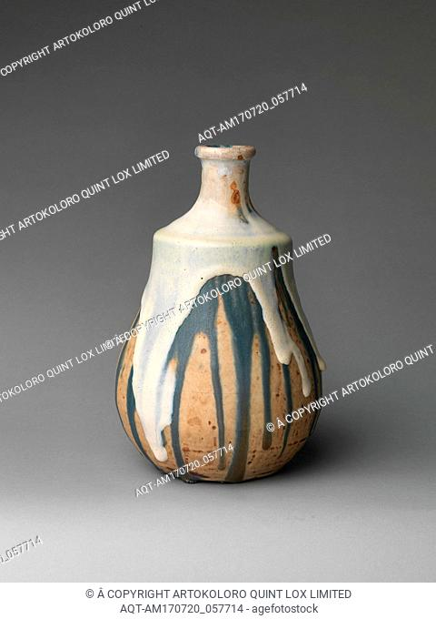 Gourd vase, ca. 1890, French, Saint-Amand-en-Puisaye, Stoneware, 9 3/4 × 6 1/2 in., 4 lb. (24.8 × 16.5 cm, 1.8 kg), Ceramics-Pottery
