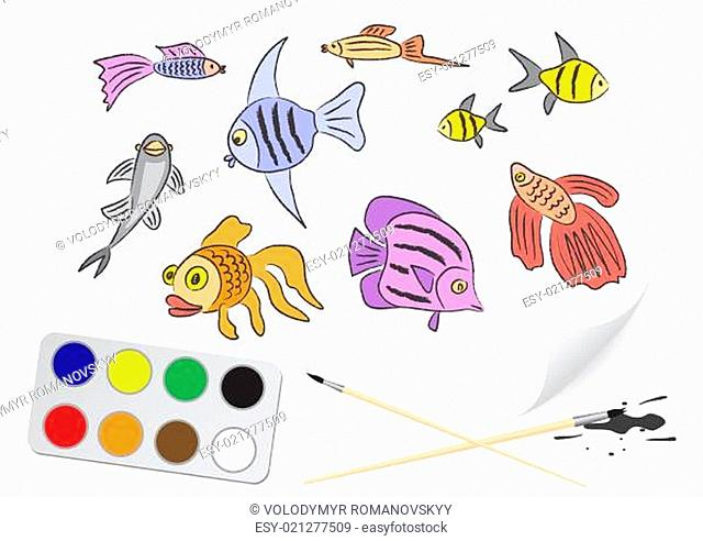drawing fishes