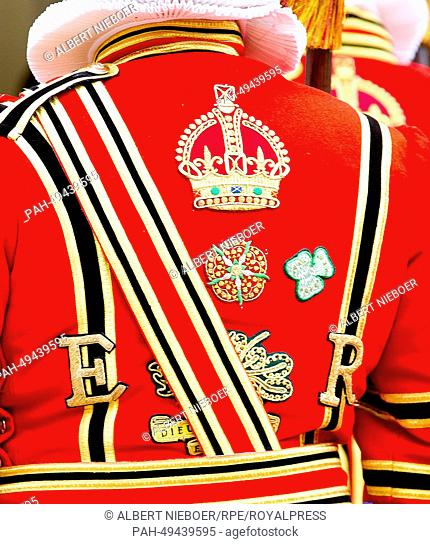 Beefeater at Windsor Castle during The Order Of The Garter Service in Windsor, United Kingdom, 16 June 2014. Photo: RPE-Albert Nieboer/dpa NETHERLANDS OUT...