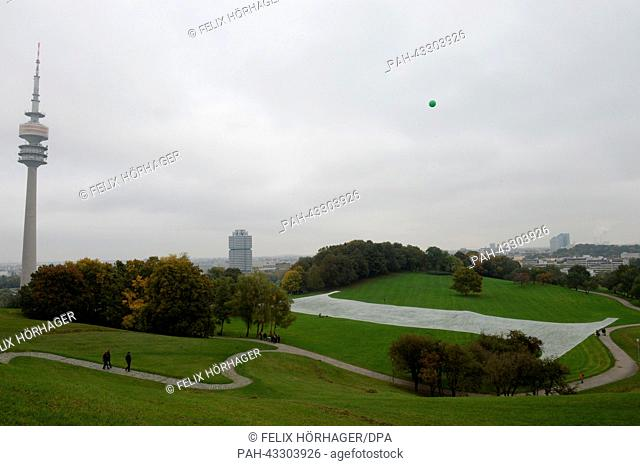 The art installation 'One Second' by artist Janine Mackenroth photographed at the Olympic Park in Munich, Germany, 12 Ocotber 2013