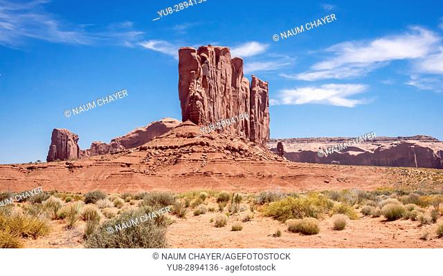 Panorama of World famous Monument Valley, Utah, USA.