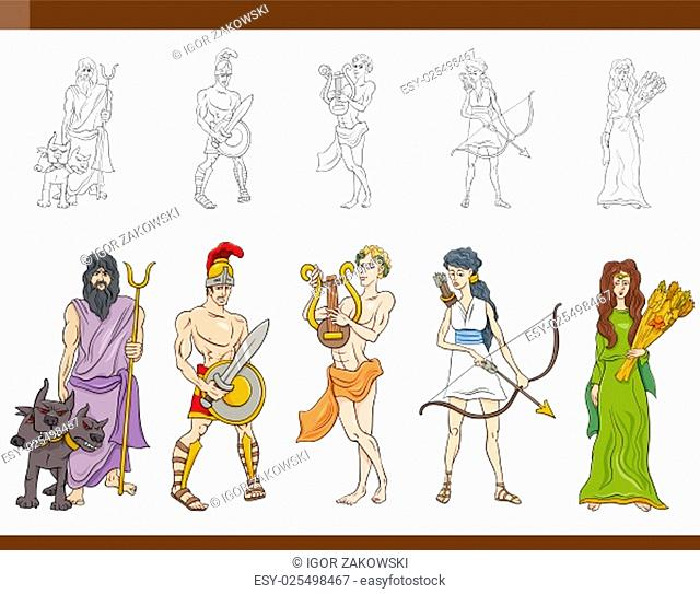 Greek God Ares Cartoon Illustration Stock Photos And Images