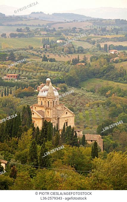 Tuscany. Montepulciano. The Sanctuary of San Biagio